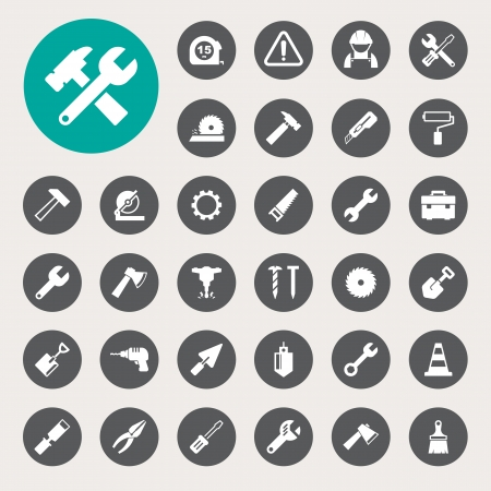Construction Icons set. Stock Vector - 23843013