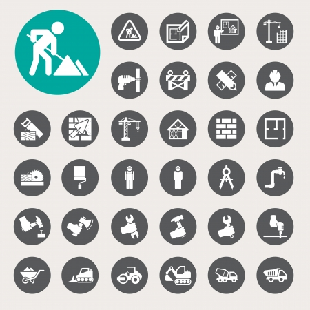 arquitecto: Negocios y finanzas icono conjunto.