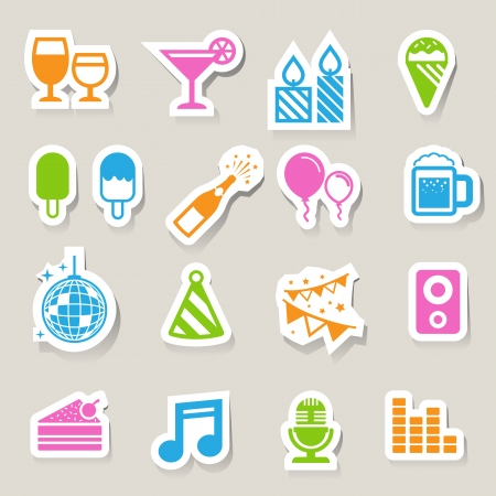 Party and Celebration icon set.  Vector