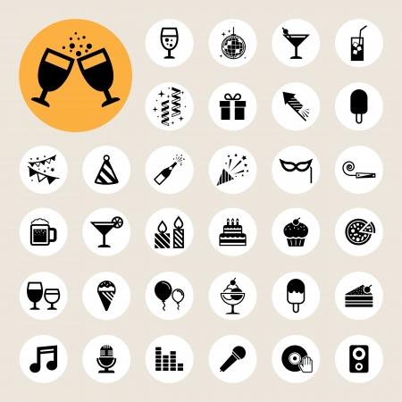 mascara de carnaval: Fiesta y Celebración conjunto de iconos.