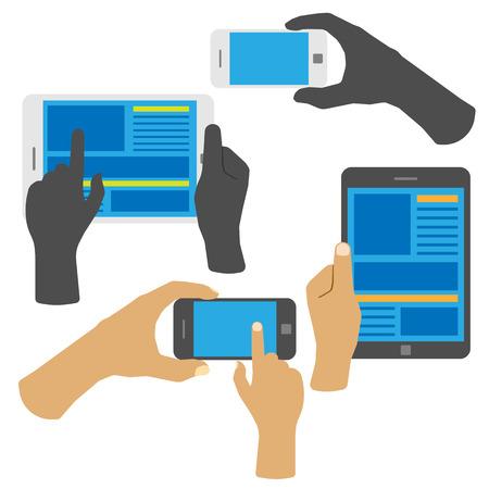 Smartphone en tablet.