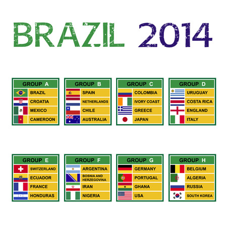 Brazil 2014 , Soccer ( Football ) Tournament. Vector
