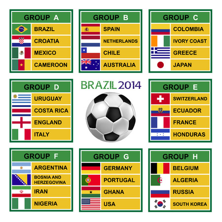 Brazil 2014 , Soccer ( Football ) Tournament. Stock Photo - 25238126