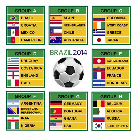 Brazilië 2014, Voetbal (Voetbal) Tournament. Redactioneel