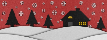 Christmas night  recycled papercraft background. photo