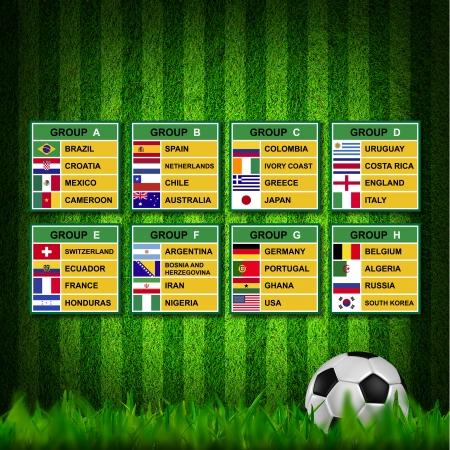 Brazilië 2014, Voetbal (Voetbal) Tournament. Stockfoto