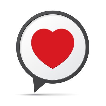 Heart Symbol Speech Bubble.Illustration eps10 Vector