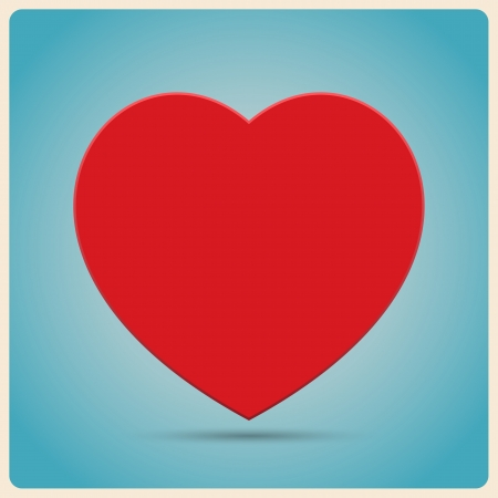Red Heart  Poster.Illustration Vector