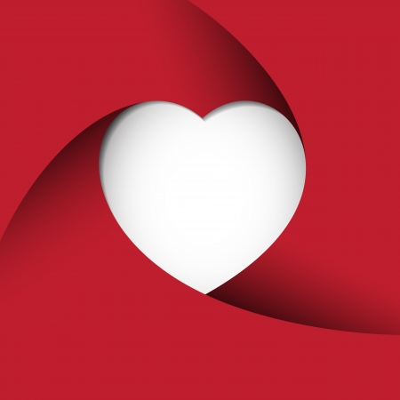 Red Heart Background.Illustration  Vector