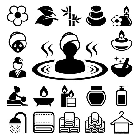 Spa icons set .