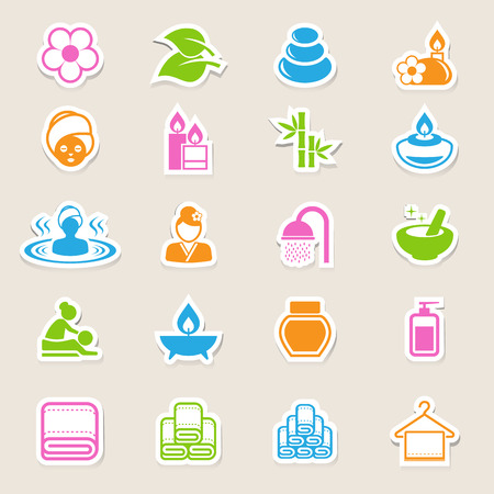 papering: Spa icons set .Illustration