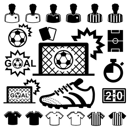 Soccer Icons set.  Vector