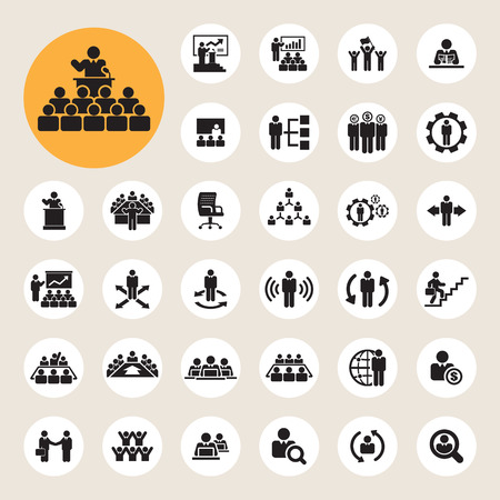 Business and Management Icons set