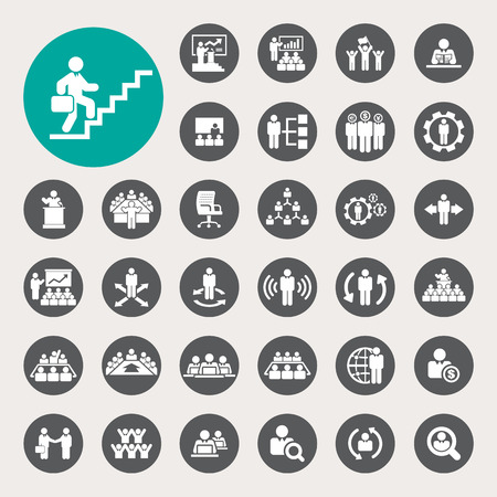 Business and Management Icons set Stock Vector - 26518681