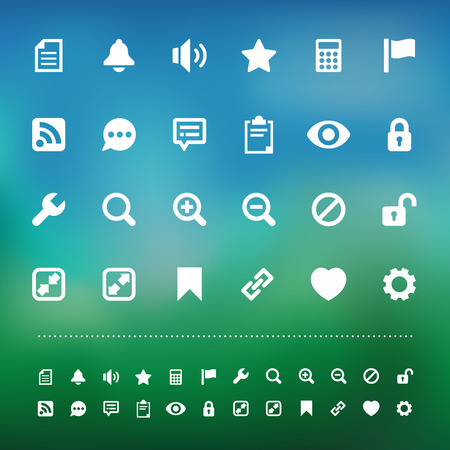 retina: Retina interface  icon set . Illustration