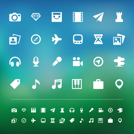 dimond: Retina travel and entertainment icon set .I
