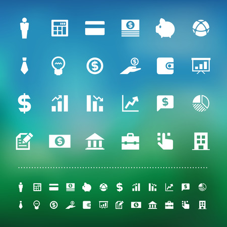 retina: Retina business and finance icon set .