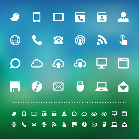 Retina communication icon set . Vector