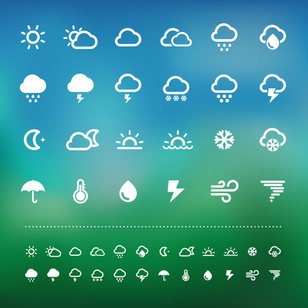 Retina weather icon set .