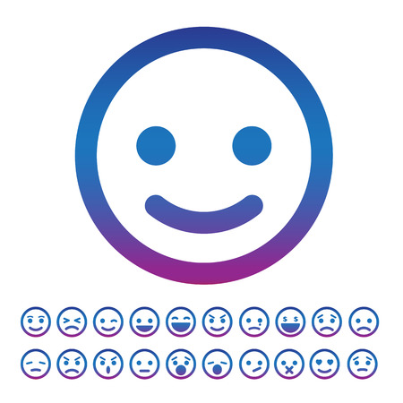 Smiley faces icons set.Illustration eps10 Vector