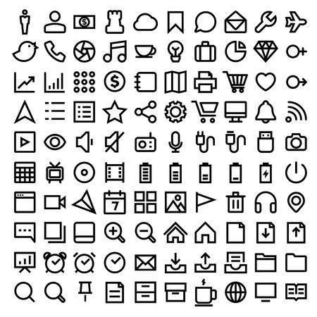 dimond: Thin Line Icons set.Illustration eps10