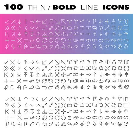 Thin Line Icons set.Illustration eps10 Stock Vector - 27377015