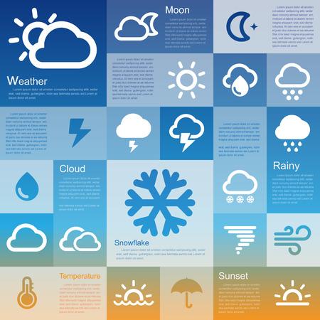 hurricane weather: Flat design interface icon set 3  .Illustration eps10