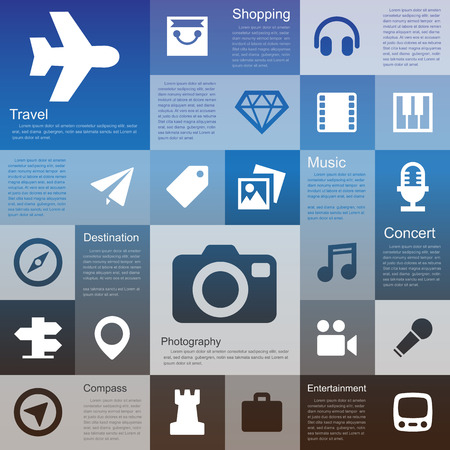 interface icon: Flat design interface icon set 4  .Illustration eps10