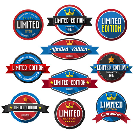 LIMITED EDITION ,retro vintage badges and labels Vector