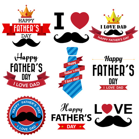Fathers day badge Illustration
