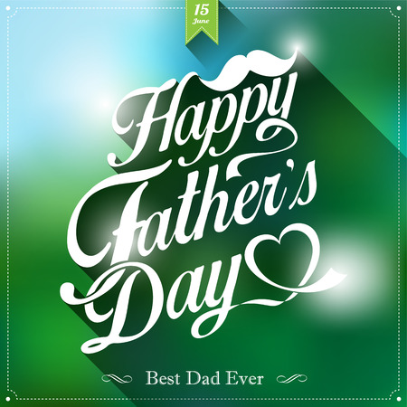Happy Fathers Day Typographical Background Vector