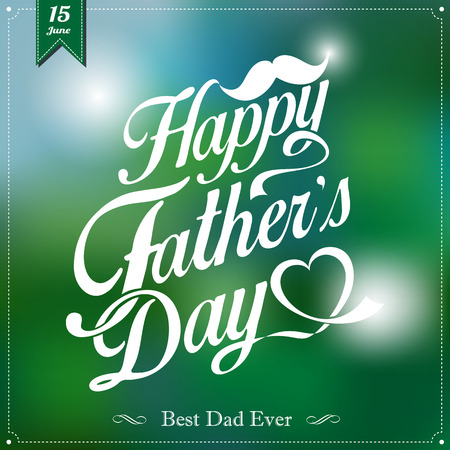 Happy Father's Day Typographical Background Imagens - 29159823