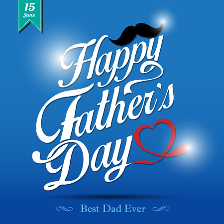 Happy Father's Day Typographical Achtergrond Stock Illustratie