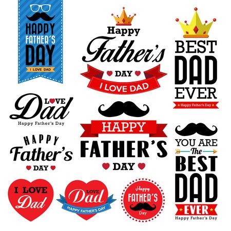 Happy fathers day  vintage retro type font.Illustrator eps10