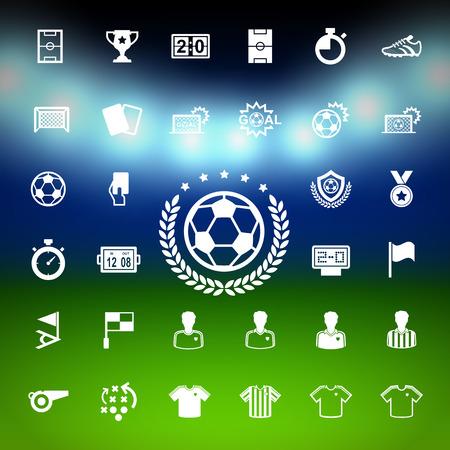 축구 아이콘을 설정합니다. 그림 EPS10 일러스트