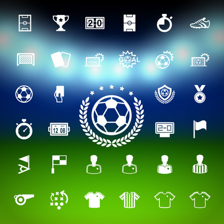 Soccer Icons set. Illustration eps10 Vector