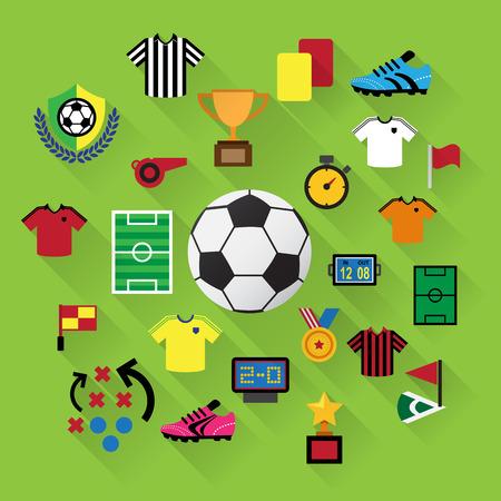 computer clubs: Soccer Icons set. Illustration eps10