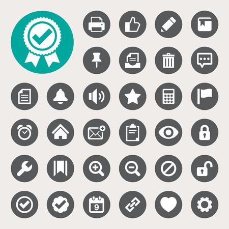 컴퓨터 및 어플리케이션 인터페이스 아이콘 set.Illustration EPS10 일러스트