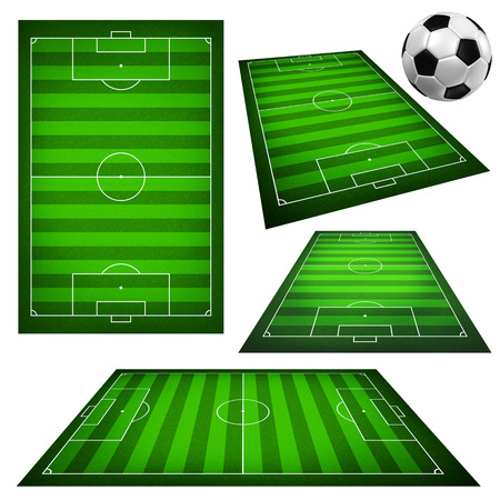 football pitch: Illustration of a soccer field Stock Photo