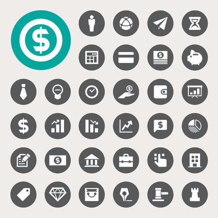 비즈니스 및 금융 아이콘을 설정합니다. 그림 EPS10
