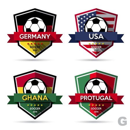 Set of soccer ( football ) badge.Vector Illustration  Vector