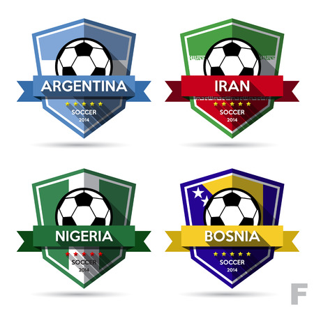 Set of soccer ( football ) badge.Vector Illustration  Vector