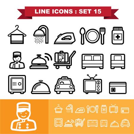 Line icons set Illustration Vector
