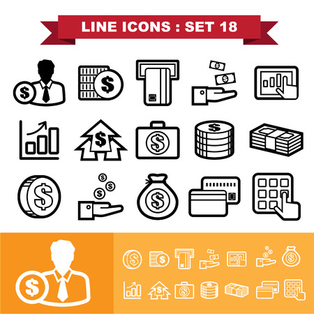 Line icons set 18 . Vector