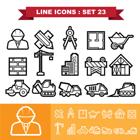 Line icons set 23. Vector