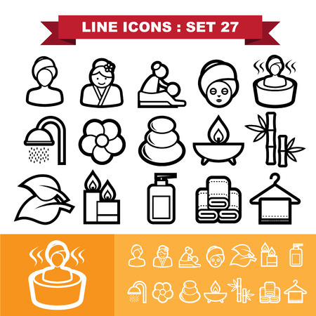 papering: Line icons set 27.