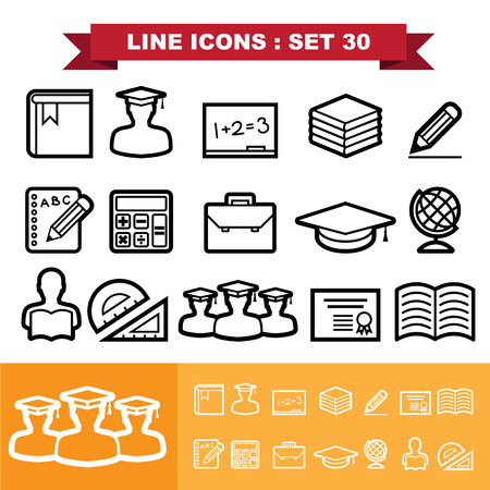 Line icons set 30. Vector