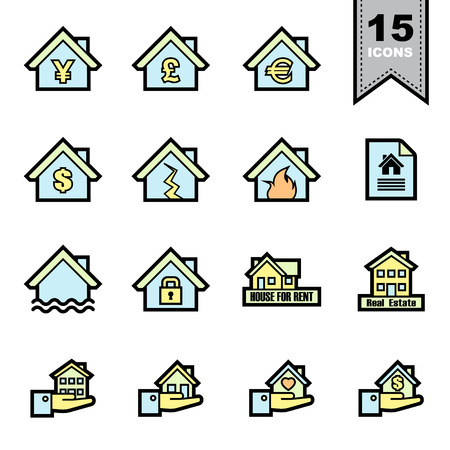 Real Estate line icons set. Vector