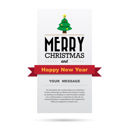 33317365 christmas and happy new year card design