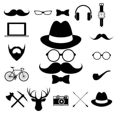 Hipster retro vintage elements icon set. Illustration eps10 Vector